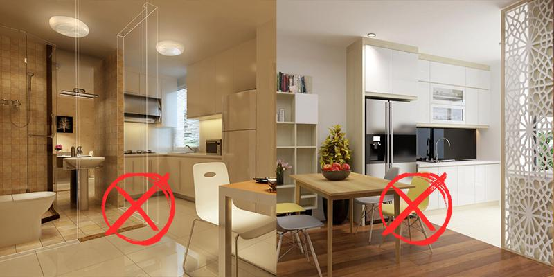 """8 điều """"tránh"""" cần nhớ khi thiết kế phòng bếp để không phạm phải các cấm kỵ trong phong thuỷ"""