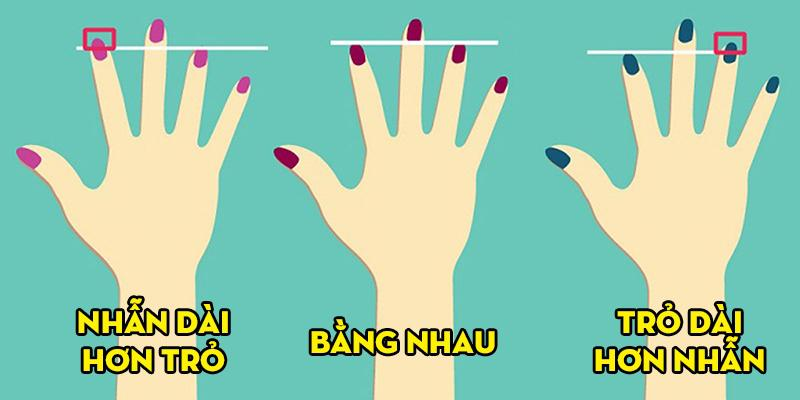 So ngón trỏ với ngón đeo nhẫn sẽ đoán được mức độ thành công trong cuộc sống