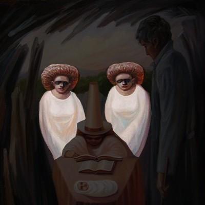 Hai người áo trắng